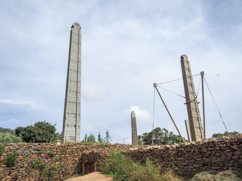 アクスムのオベリスク。紀元4世紀から5世紀にかけて造られたと考えられています