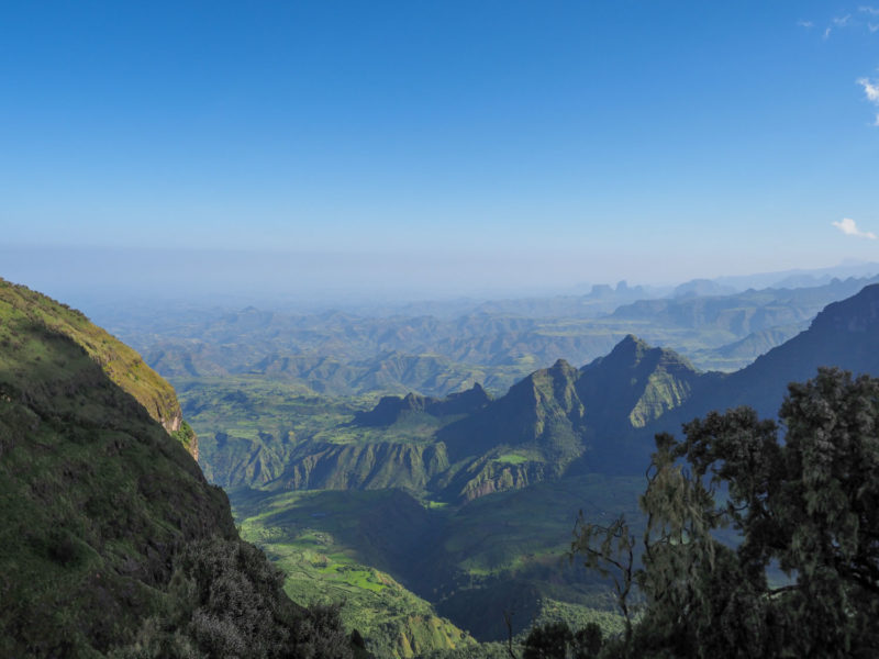 「アフリカの屋根」と呼ばれるシミエン国立公園。